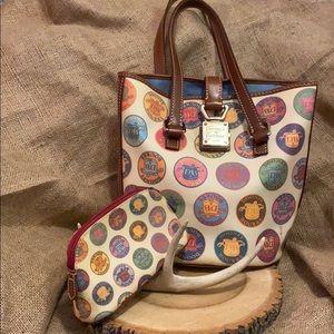 Dooney & Burke medallion bucket bag w/makeup purse
